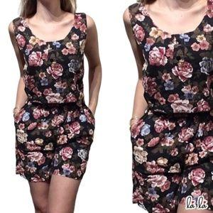 Vintage two pieces floral shorts set